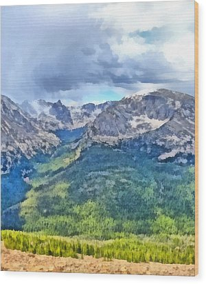 Rocky Mountain National Park Painting Wood Print by Dan Sproul