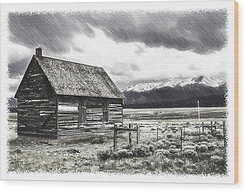 Rocky Mountain Past Wood Print by John Haldane