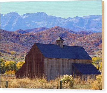 Wood Print featuring the photograph Rocky Mountain Retreat by Jackie Carpenter