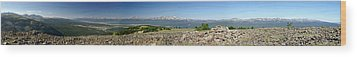 Rocky Mountain Rooftop Panoramic Wood Print by Jeremy Rhoades