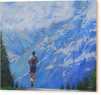 Rocky Mountain Run Wood Print by Edward Pollick
