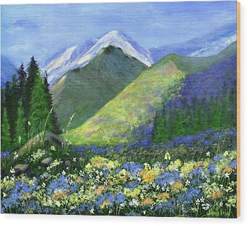 Rocky Mountain Spring Wood Print by Jamie Frier