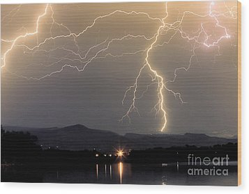 Rocky Mountain Thunderstorm  Wood Print by James BO  Insogna