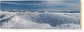 Wood Print featuring the photograph Rocky Mountain Winter by Aaron Aldrich