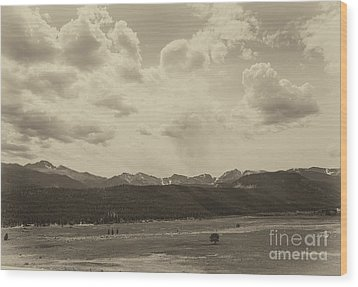 Rocky Mountains Front Range Wood Print by Kay Pickens
