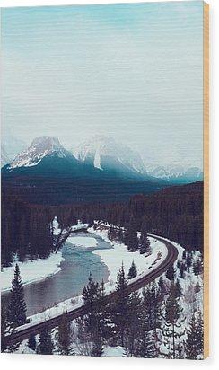 Rocky Mountains Wood Print by Kim Fearheiley