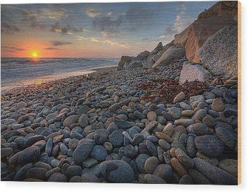 Rocky North Ponto Wood Print by Peter Tellone