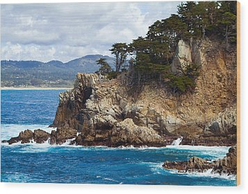 Rocky Outcropping At Point Lobos Wood Print