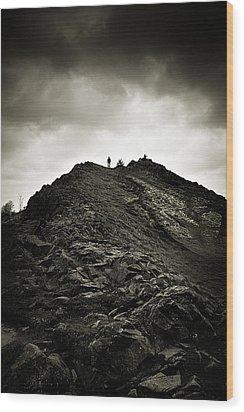 Rocky Pathway To Scotland Wood Print