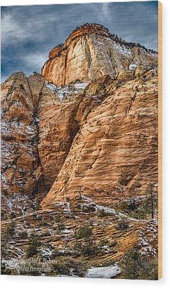 Rocky Peak Wood Print by Christopher Holmes