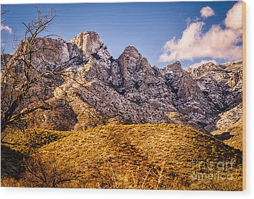 Wood Print featuring the photograph Rocky Peaks by Mark Myhaver