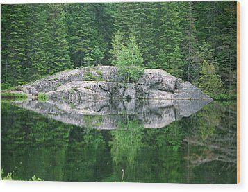 Wood Print featuring the photograph Rocky Reflection by David Porteus