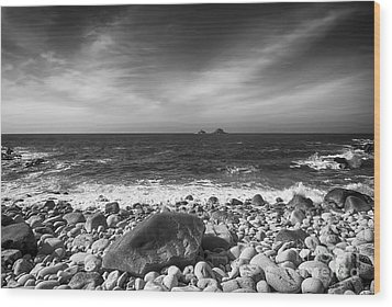 Rocky Shore Wood Print by Chris Thaxter