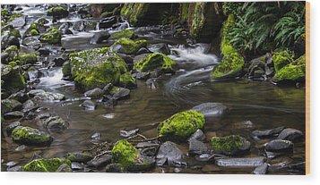 Rocky Stream 03 Wood Print by Heather Provan