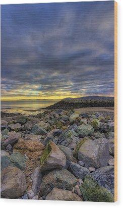 Rocky Sunrise Wood Print by Ian Mitchell