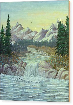 Rocky Waters Wood Print by David Bentley