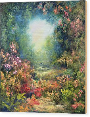 Rococo Delight Wood Print by Hannibal Mane