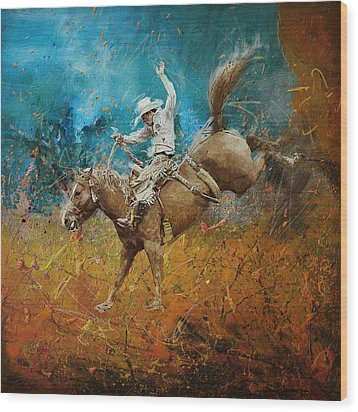 Rodeo 001 Wood Print by Corporate Art Task Force