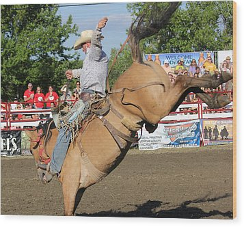 Rodeo Wood Print by Bruce  Morrell