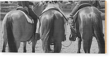 Rodeo Bums Wood Print by Michelle Wrighton