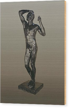 Rodin, Auguste 1840-1917. The Age Wood Print by Everett