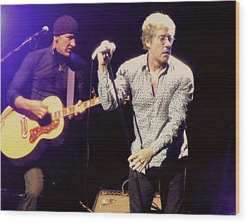 Roger Daltrey And The Who Wood Print