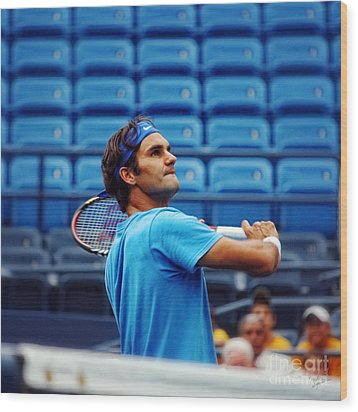 Roger Federer  Wood Print by Nishanth Gopinathan