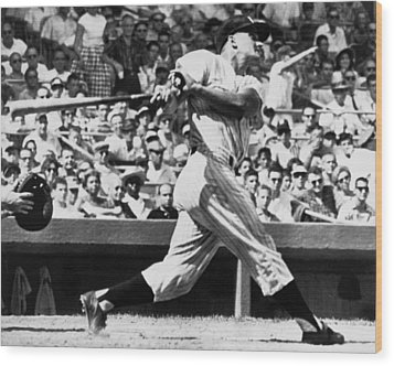 Roger Maris Hits 52nd Home Run Wood Print by Underwood Archives