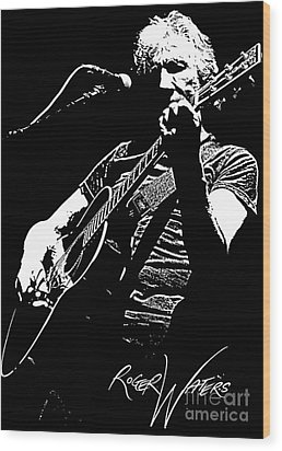Roger Waters No.01 Wood Print by Caio Caldas