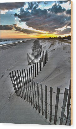 Rogers Beach First Day Of Spring 2014 Wood Print