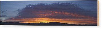 Rogue Valley Sunset Panoramic Wood Print by Mick Anderson