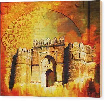 Rohtas Fort 00 Wood Print by Catf