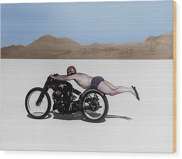 Roland Rollie Free Wood Print by Mark Rogan