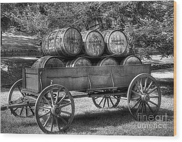 Roll Out The Barrels Wood Print by Mel Steinhauer