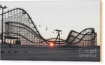 Roller Coaster Wood Print by John Rizzuto
