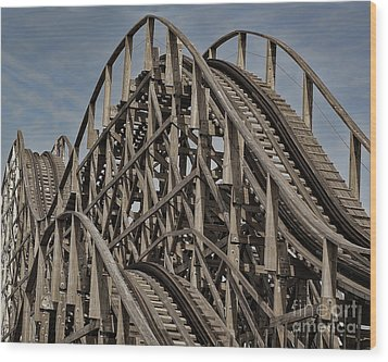 Roller Coaster Wood Print