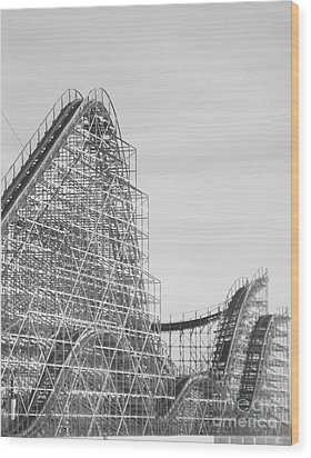 Roller Coaster Wildwood Wood Print
