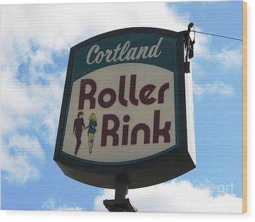 Roller Rink Wood Print by Michael Krek