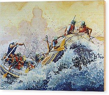 Rollin' Down The River Wood Print by Hanne Lore Koehler