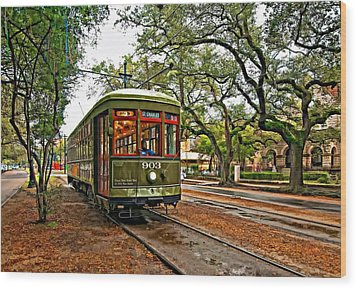 Rollin' Thru New Orleans Wood Print by Steve Harrington