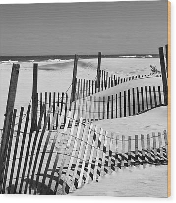 Rolling Fence Wood Print by Denis Lemay