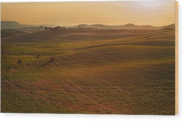 Wood Print featuring the photograph Tuscany - Rolling by Francesco Emanuele Carucci
