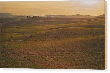 Tuscany - Rolling Wood Print by Francesco Emanuele Carucci