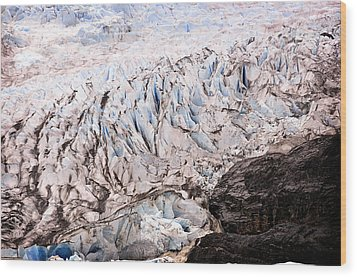 Wood Print featuring the photograph Rolling Ice Peaks by Davina Washington