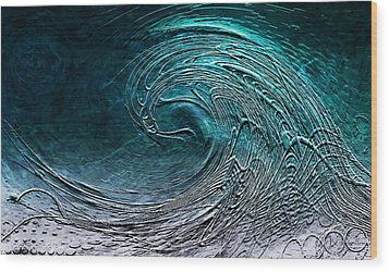 Rolling In The Deep Wood Print by Barbara Chichester