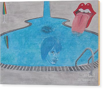 Rolling Stones Brian Jones Wood Print by Jeepee Aero