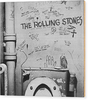 Rolling Stones Wood Print by Jerry Cordeiro