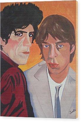 Rolling Stones Wood Print by Paula Justus