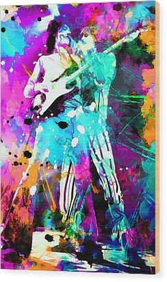 Rolling Stones Wood Print by Rosalina Atanasova