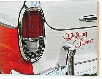 Rolling Thunder Wood Print by Frozen in Time Fine Art Photography